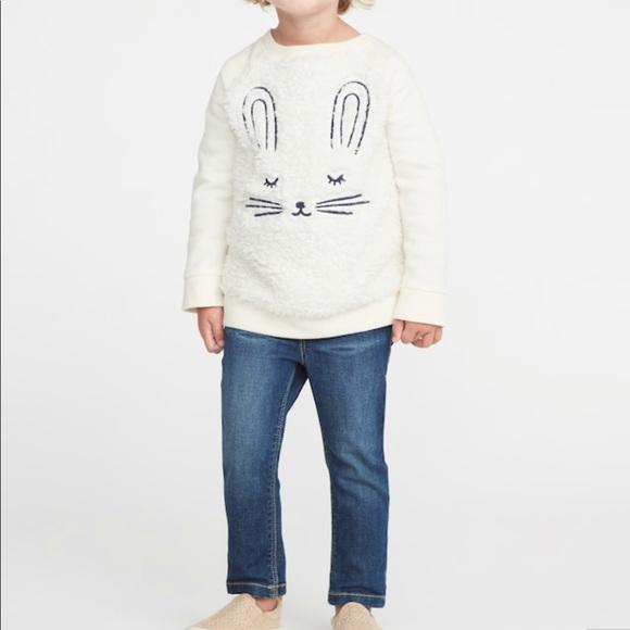 12592716d0e543 Old Navy Shirts & Tops | Baby Girl Cloth Toddler Bunny Sweater ...